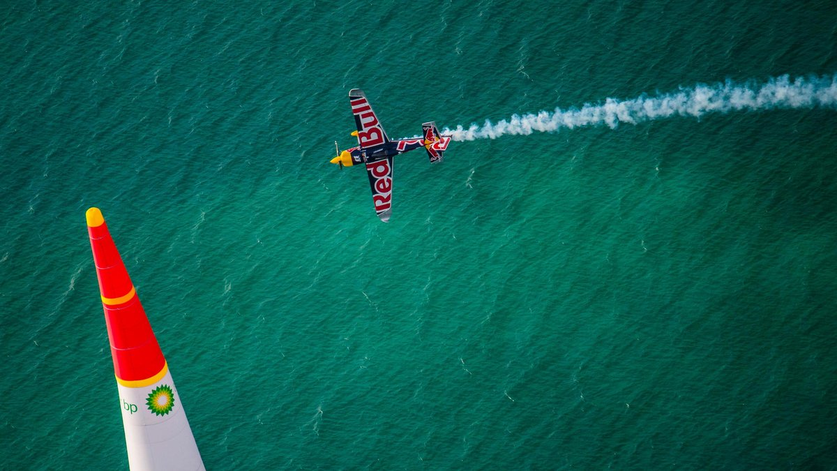 Martin Sonka the Czech Republic performs during the finals at the first stage of the Red Bull Air Race World Championship in Abu Dhabi, United Arab Emirates on February 11, 2017.
