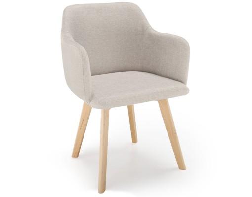 Chaise style scandinave matelassée