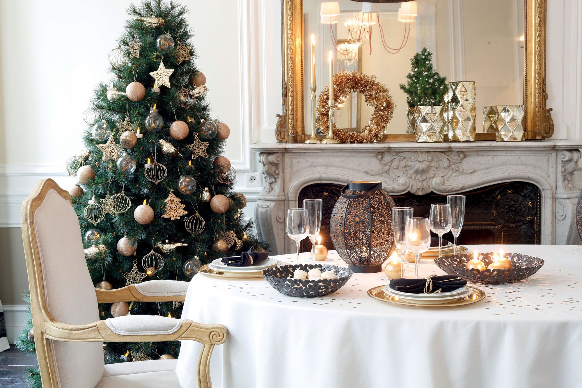 Deco tendance no l 2016 d co sapin et art de la table - Sapin de noel decoration tendance ...