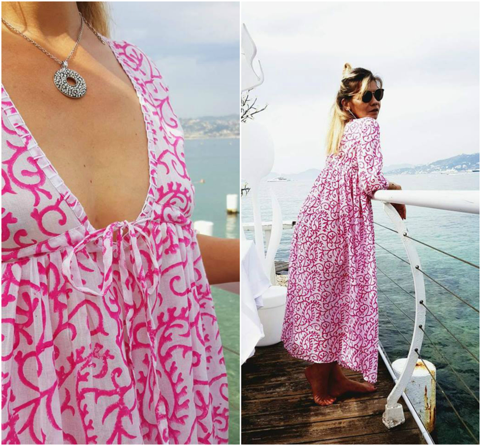 robe-longue-ete-rose