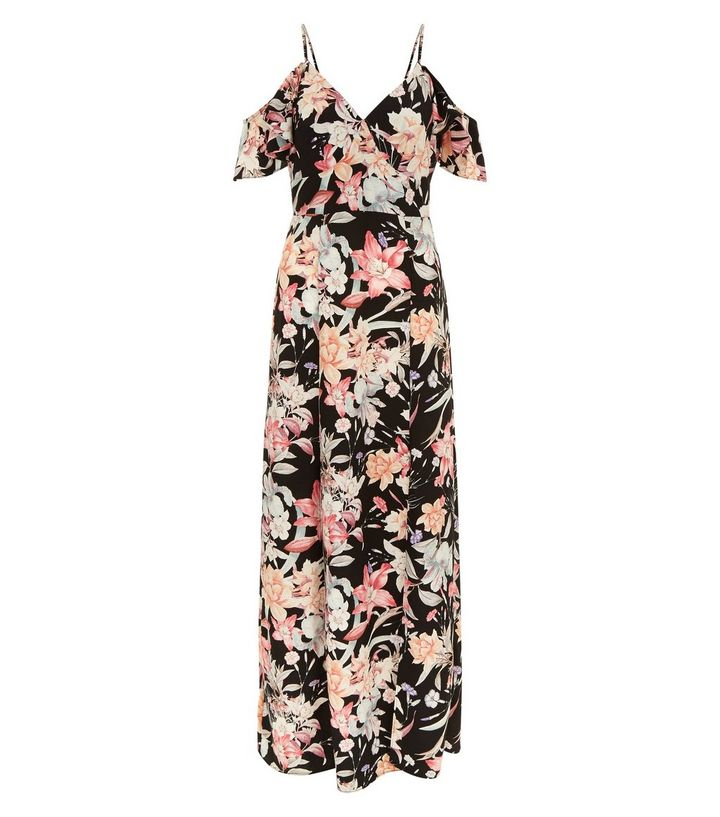 Robe longue imprime floral