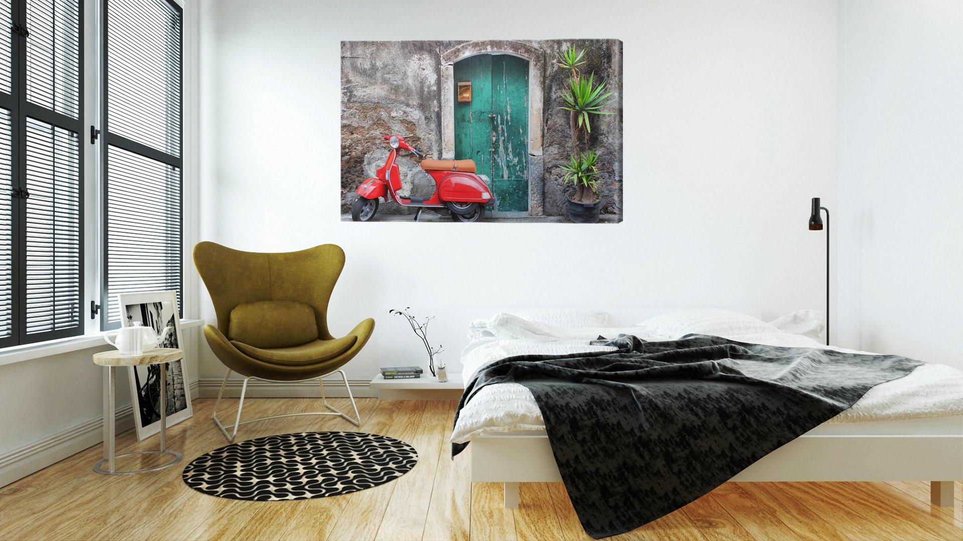 tableaux-sur-toile-themes-categorie-virtuelle-scooter-rouge