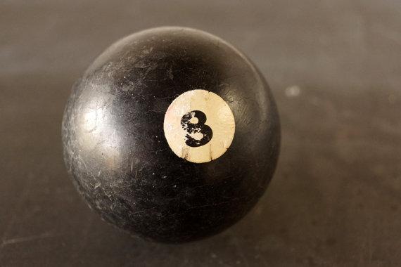 Antique Clay Billiard Ball Black - Thrid Shfit Etsy