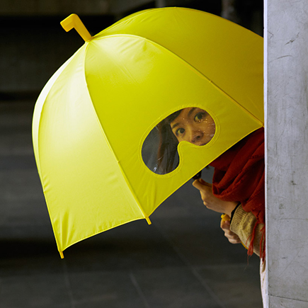 Umbrella-with-Eye-Holes