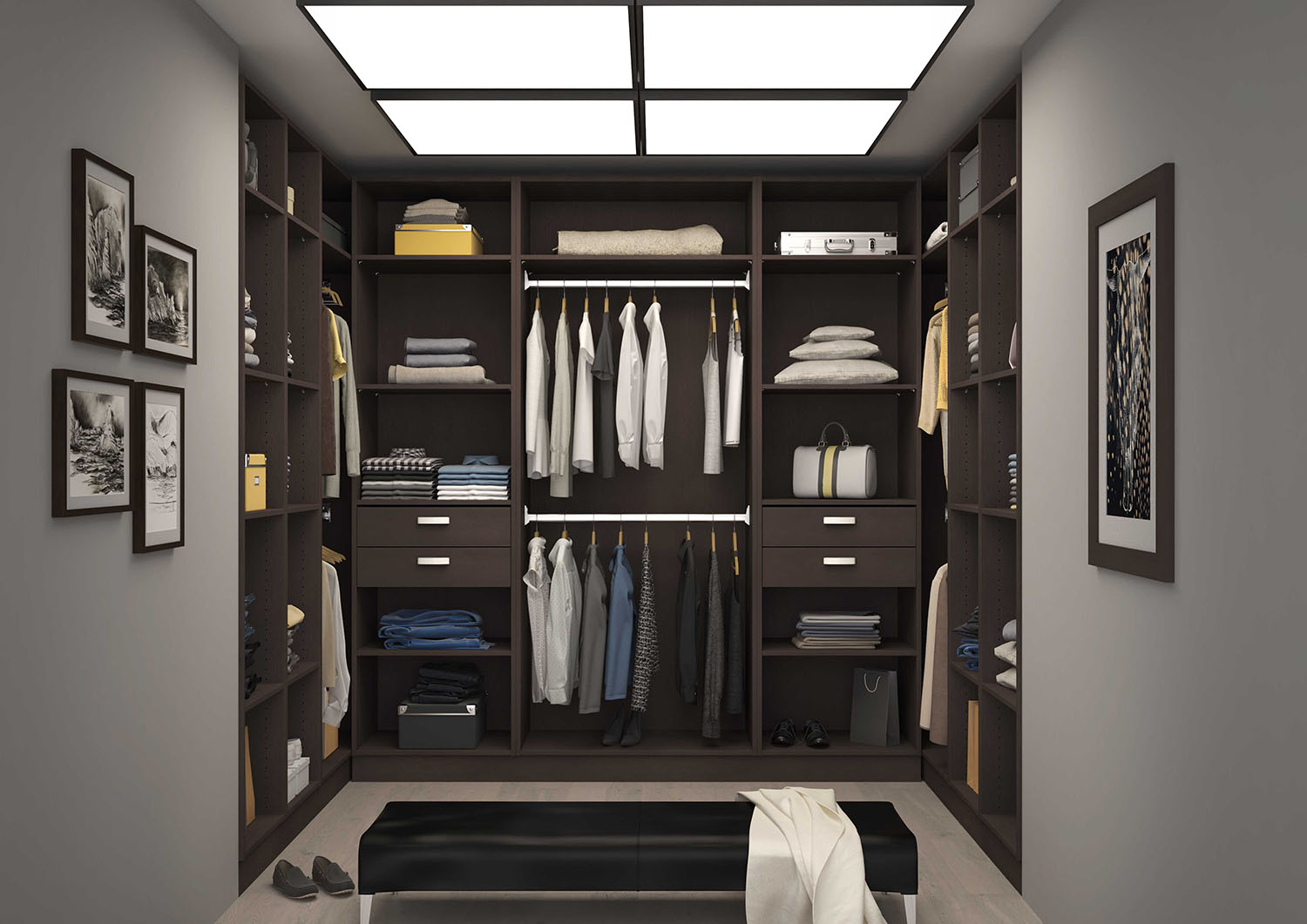 armoire dressing ouvert