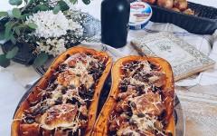butternut farcie au mascarpone