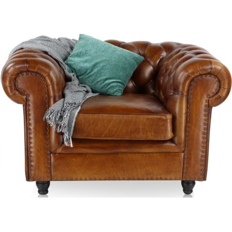 fauteuil-chesterfield-cuir-marron-vintage-grand
