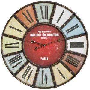 horloge-vintage-coloree Tendance Matière