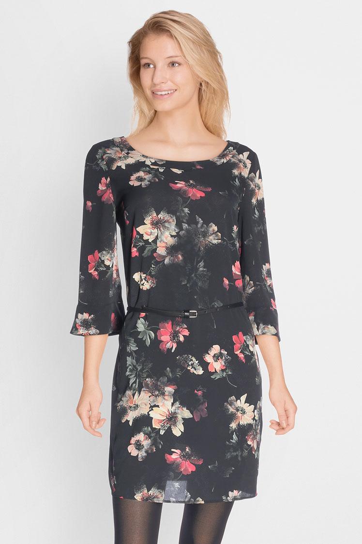 robe fleur automne