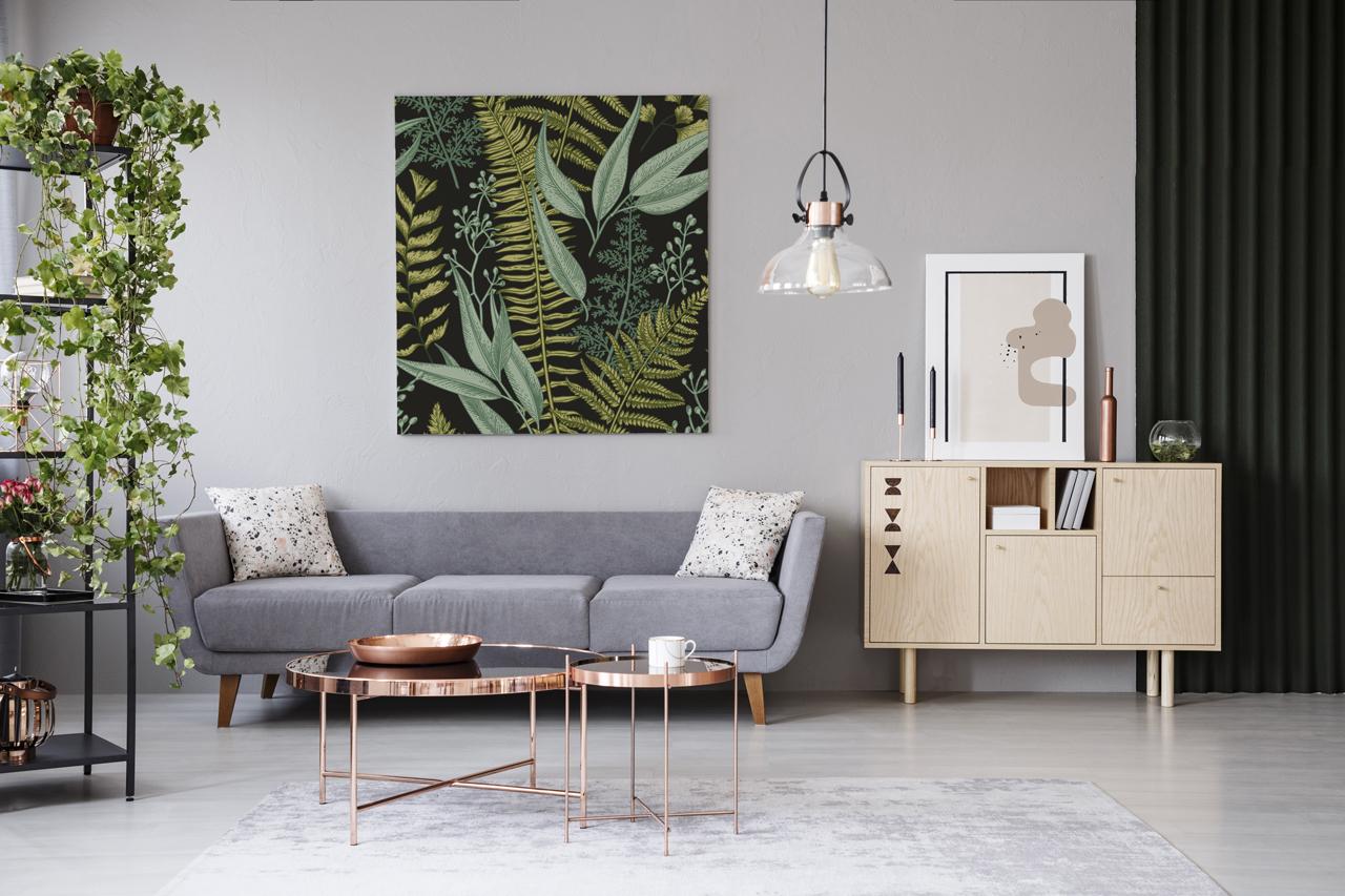 salon - poster botanique