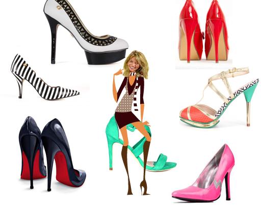 Heels of shoes